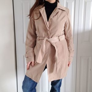 Towne Collection L Classic Single Trench Coat